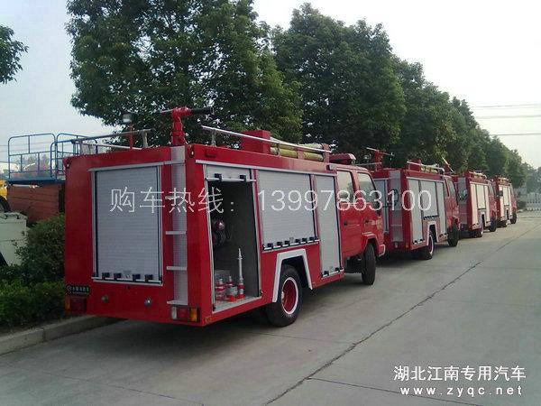 批量出厂的庆铃五十铃水罐消防车