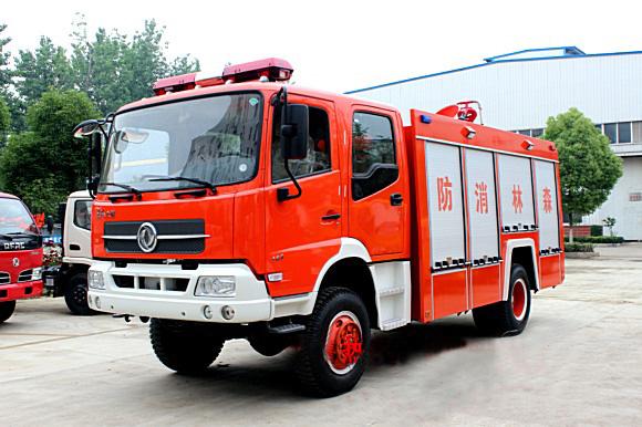 长春森林消防局在我厂采购的东风天锦四驱森林消防车