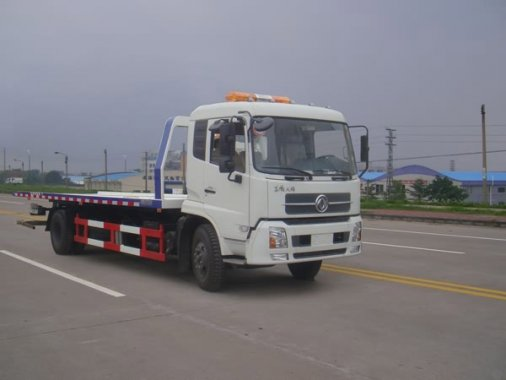 东风天锦平板一拖二清障车(7.2米)