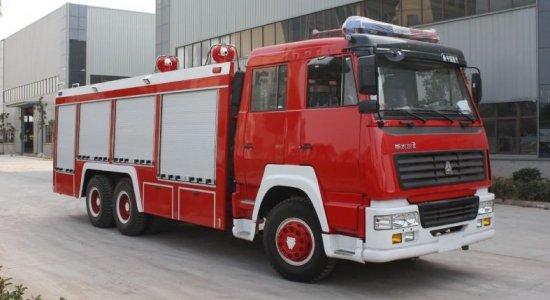 重汽豪沃6吨干粉消防车