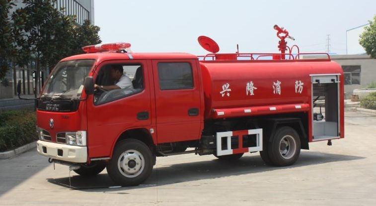 东风福瑞卡双排4吨消防洒水车