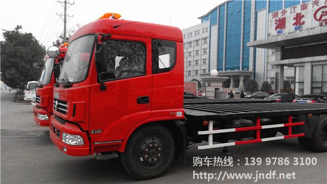 集装箱平板运输车图片