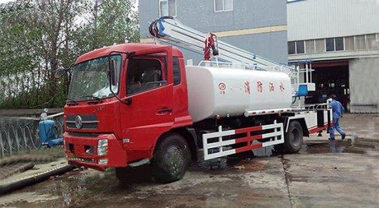 东风天锦高空作业消防洒水车