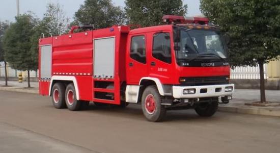 五十铃8吨干粉泡沫联用消防车