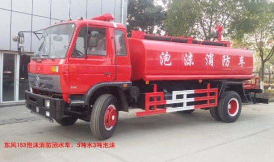 东风153简易泡沫消防车(8吨)