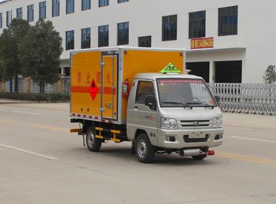 福田小型易燃液体厢式运输车