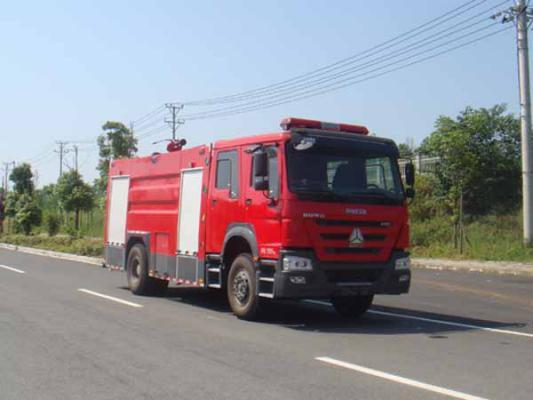 国五豪沃8吨水罐消防车图片