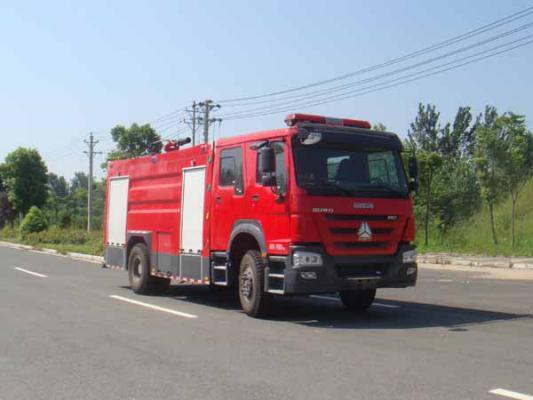 国五豪沃8吨泡沫消防车图片
