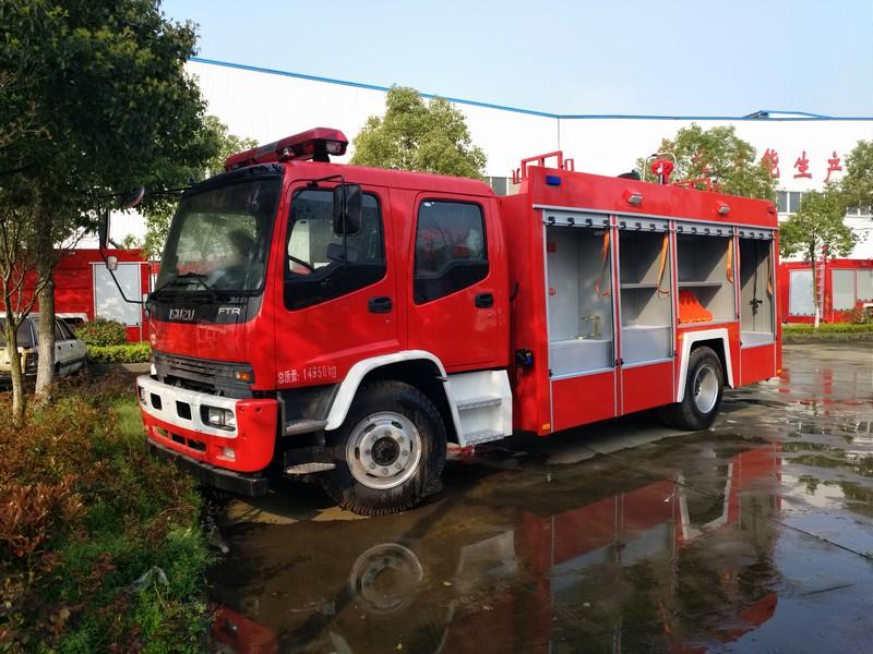 五十铃6吨泡沫消防车图片