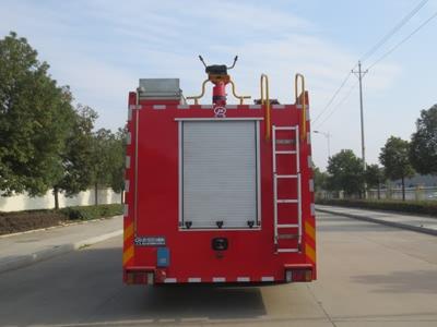 五十铃7吨水罐消防车图片