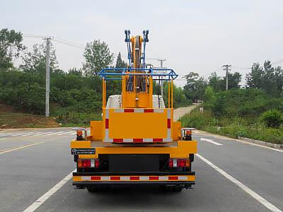 国六江铃12米高空作业车图片