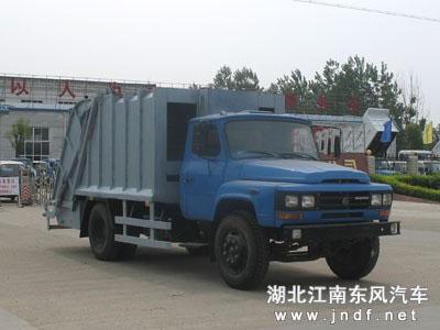 东风140尖头压缩式垃圾车