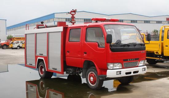 东风小霸王水罐消防车/泡沫消防车(2吨)