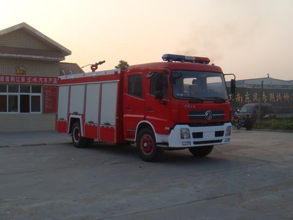 东风天锦水罐泡沫消防车(6T)