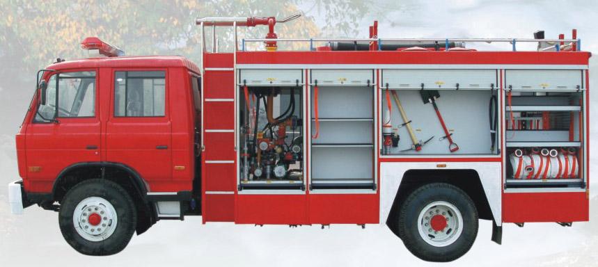 东风153水罐泡沫消防车消防装备图