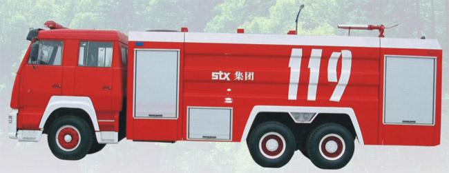 斯太尔双桥水罐、泡沫消防车图