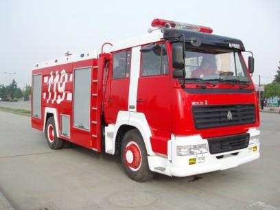 斯太尔王单桥8吨水罐消防车(8T)