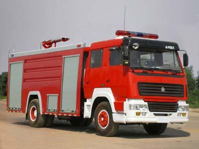 斯太尔王单桥8吨水罐泡沫两用消防车(8T)